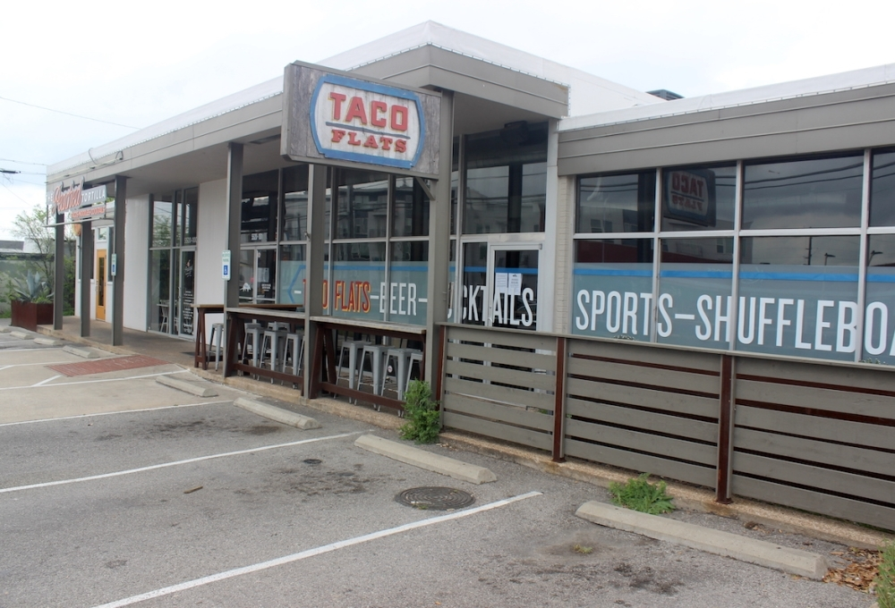 Taco Flats and The Peached Tortilla on Burnet Road. (Jack Flagler/Community Impact Newspaper)