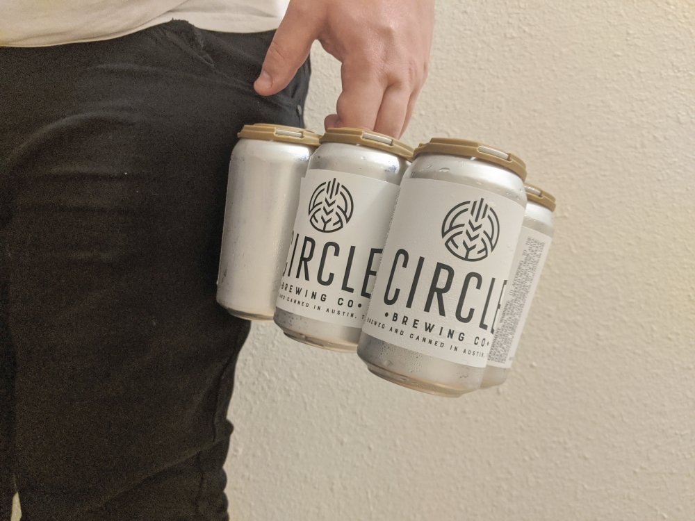 Circle Brewing Company cans