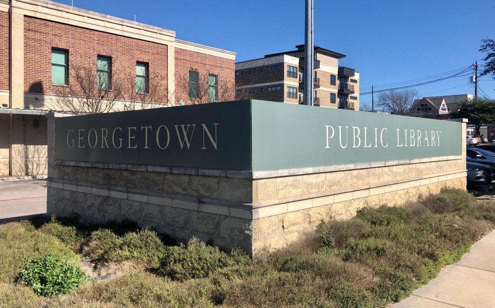 Starting March 18, the Georgetown Public Library will offer curbside pickup of reserved materials. Staff also will offer story times and activities for children on the library's Facebook page. (Sally Grace Holtgrieve/Community Impact Newspaper)