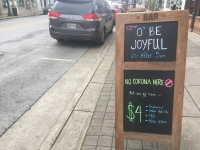 Bars and restaurants in downtown Franklin are working to stay open amid the coronavirus outbreak. (Wendy Sturges/Community Impact Newspaper)