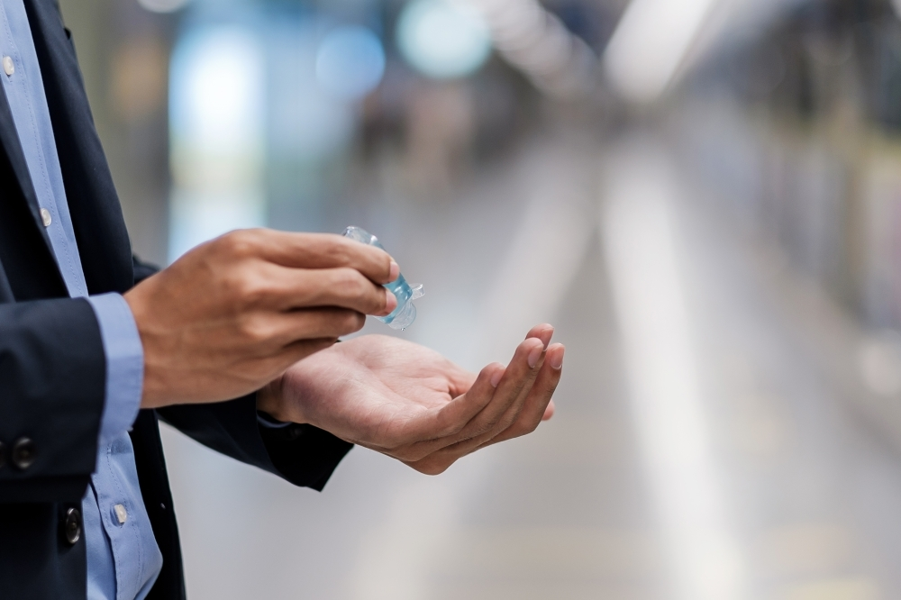 Grateful Dane Distilling Co. has a limited supply of hand sanitizer but is looking to ramp up production. (Courtesy Adobe Stock)