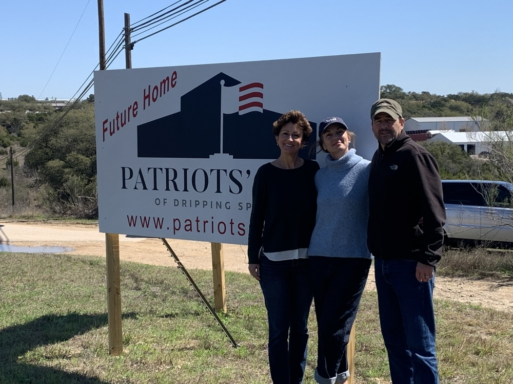 Patriot's Hall Vice President Mary Jane Hetrick, President Kathryn Chandler and board member Kyle Chandler. (Olivia Aldridge/Community Impact Newspaper)