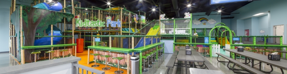 The 6,000-square-foot play structure features slides, merry-go-rounds, obstacle courses and more. (Courtesy Kidtastic Park)