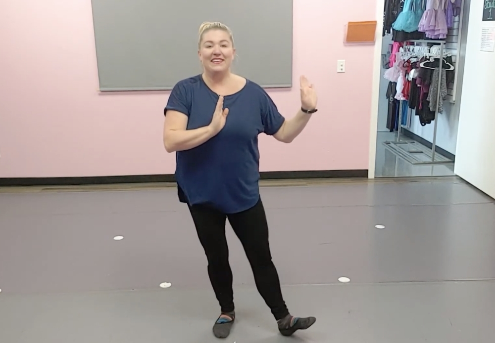 Kristin Shepherd demonstrates a recital dance in a video posted to the 4 the Love of Dance YouTube channel. (Courtesy 4 the Love of Dance)