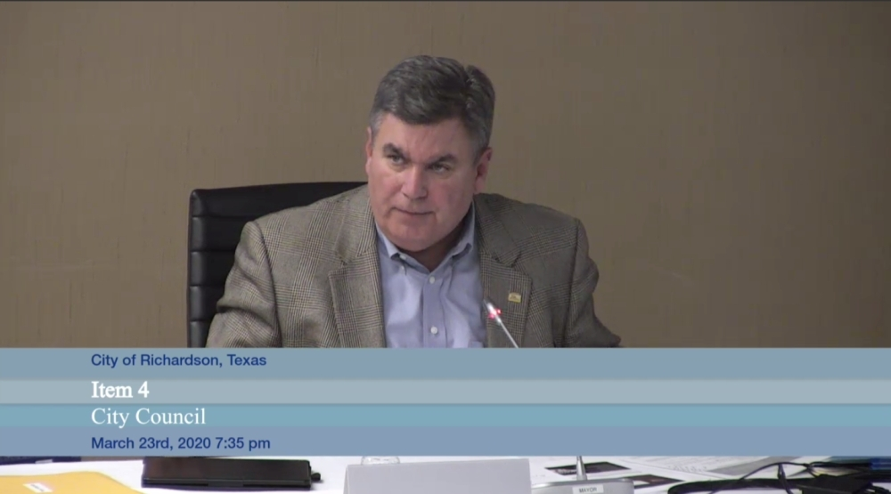 Richardson City Council ratified Mayor Paul Voelker's disaster declaration at a March 23 meeting. (Courtesy Citizens Information Television)