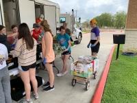 coronavirus, food drive, food truck, food distribution