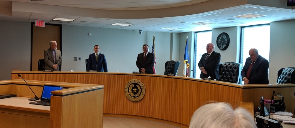 Commissioners convened March 24 and discussed the need to comply with coronavirus regulations, although questions on regulation capacity remain. (Community Impact Staff)