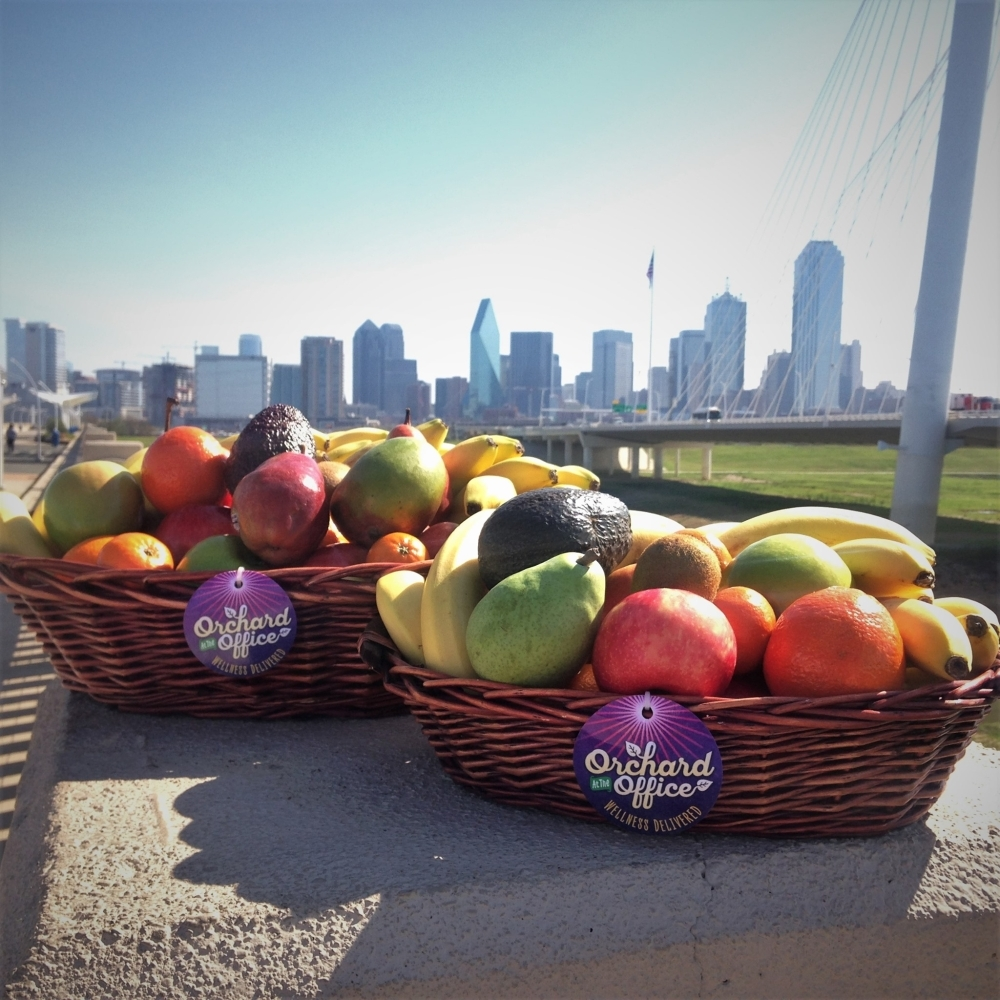 Richardson-based company Orchard at the Office delivers fresh produce and healthy snacks to homes in Dallas-Fort Worth. (Courtesy Orchard at the Office)