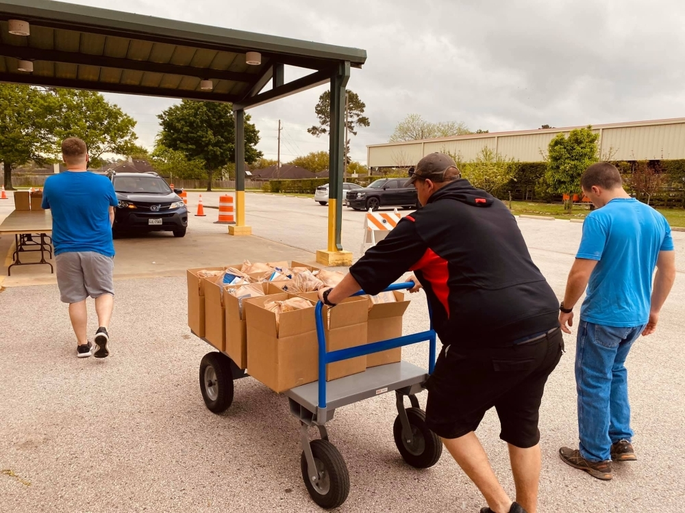 Society of Samaritans is operating its drive-thru pantry distribution from 10 a.m.-2 p.m. weekdays until further notice. (Courtesy Society of Samaritans)