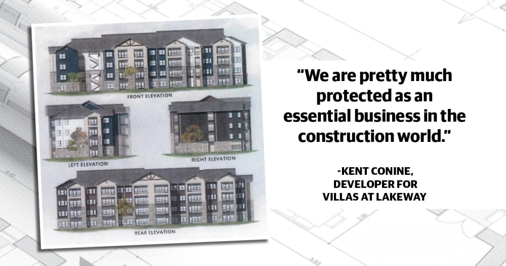 Kent Conine, one of the developers for The Villas at Lakeway, said that at this time, he is expecting construction to begin around the end of April. (Rendering illustration courtesy Kent and Meg Conine/Jay Jones/Community Impact Newspaper)