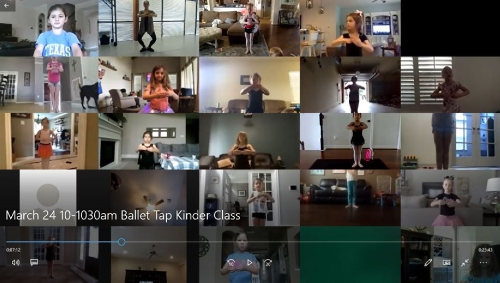 Many Cypress dance studios are using technology to hold classes online. (Courtesy Hintze Dance Center)