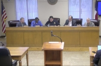The Waller County Commissioners Court met for its regular meeting March 24 and provided updates on the county's response to the coronavirus. (Screenshot via Waller County livestream)