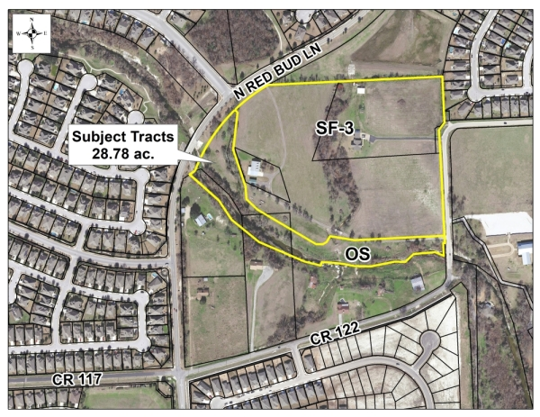 The 28.8-acre tract in northeast Round Rock is designed for homes and open space. (Courtesy city of Round Rock)
