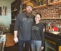 Owners of Lockwood Distilling Evan and Sally Batt are answering a call from the community by turning alcohol into hand sanitizer. (Courtesy Lockwood Distilling Co.)
