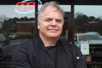 Owner and chef Michael Field opened Wildflour more than 10 years ago at his location on Windward Parkway in Alpharetta. He has started providing curbside pickup and curbside ordering while dine-in services are temporarily shut down. (Kara McIntyre/Community Impact Newspaper)