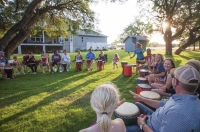 The Soulshine Rhythm Experience, a Cedar Park drum circle, is taking its show to the internet March 28. (Courtesy Suzy Turner)
