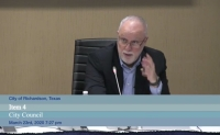 City Manager Dan Johnson spoke on the shelter in place order at the March 23 meeting. (Courtesy Citizen Information Television)