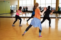 Groove to the beat with a Zumba class hosted by Pflugerville Parks and Recreation Department. Typically hosted in-person, the class will be live-streamed this week. (Photo courtesy Pflugerville Parks and Recreation)