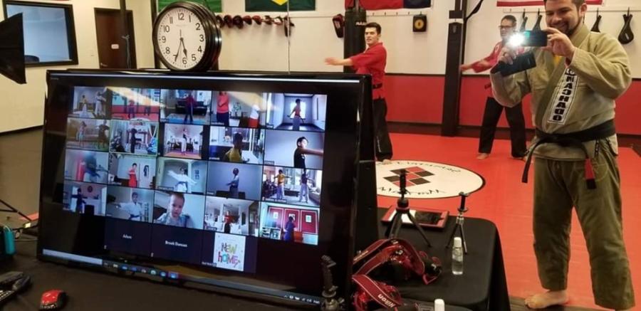 Samurai Inti Martial Arts trains about 100 students through its online classes. (Courtesy Samurai Inti Martial Arts)