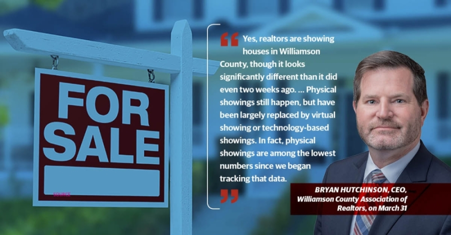 The Austin Board of Realtors and Williamson County Association of Realtors said showings have decreased, but sales remain robust. (Community Impact staff)
