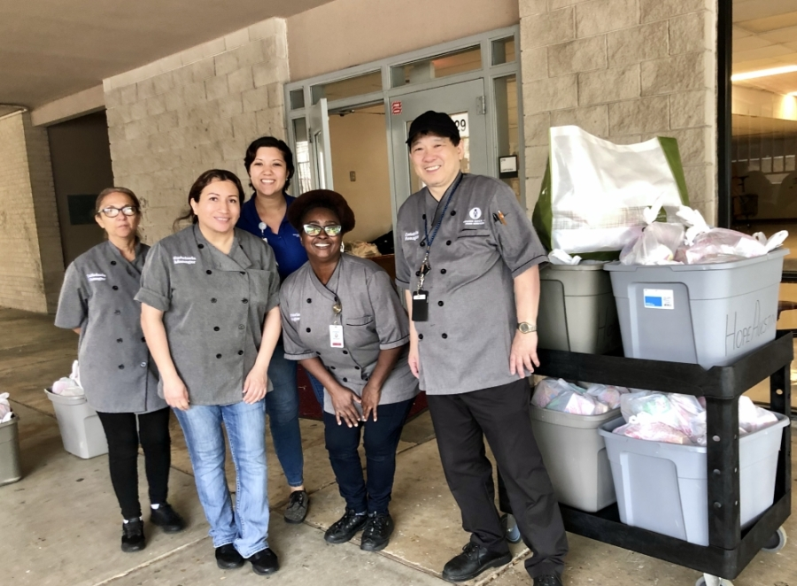The combined breakfast and lunch pickup is intended to reduce the number of trips parents, guardians and students need to make to retrieve the meals amid extended school closures this semester, according to a district email. (Courtesy Round Rock ISD)