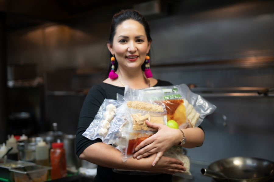 Owner of Asian Mint Nikky Phinyawatana saw an opportunity to support at-home cooking endeavors by launching the Chef Mint from Home program. (Courtesy Asian Mint)