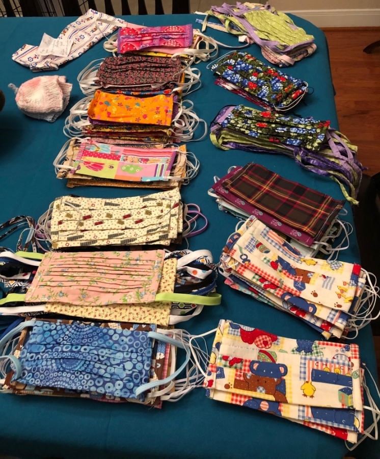 Jane Sweeney and approximately 30 other members of the Lakeview Quilters Guild decided to take action after hearing of the need for personal protective equipment in area hospitals. (Photo courtesy of Jane Sweeney)