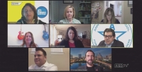 Austin ISD trustees met for a virtual board meeting March 30 that was streamed online. (Courtesy Austin ISD)