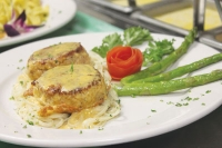 Ruggeri's homemade crabcakes illustrate the restaurant's mix of Italian and seafood. (Community Impact Newspaper file photo)