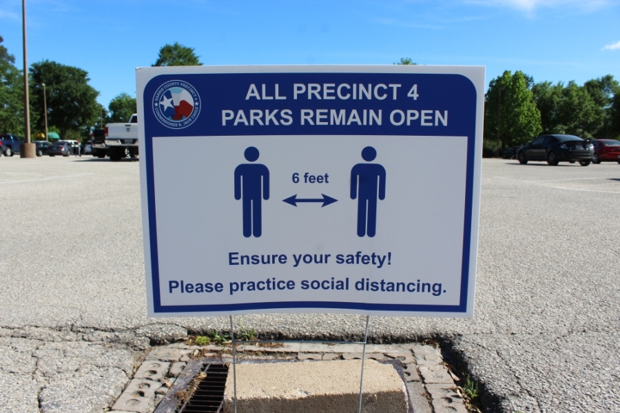 While Precinct 4's Meyer Park remains open, contact points including playgrounds, picnic areas, benches and water fountains are temporarily shut down. (Hannah Zedaker/Community Impact Newspaper)