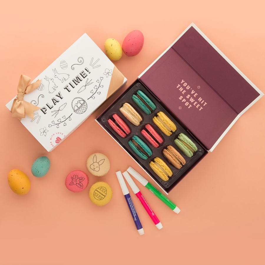 Woops in Georgetown is selling macaron decorating kits for Easter. (Courtesy Woops)