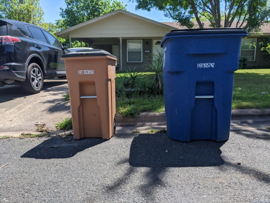 Austin garbage and recycling containers