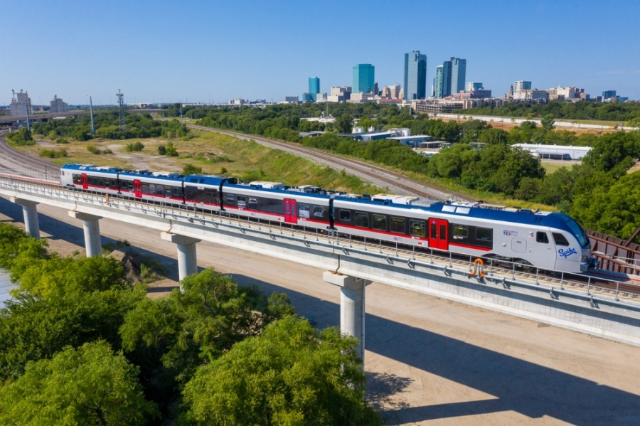 Trinity Metro announced March 31 that TexRail service will be temporarily suspended April 4-5 to allow for track work and the removal of vegetation. (Courtesy Trinity Metro)