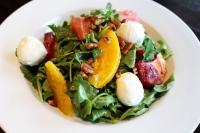 The restaurant also served a Citrus Caprese Salad. (Olivia Lueckemeyer/Community Impact)
