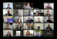 The board convened via video conference April 1. (Courtesy Frisco ISD)