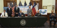 Gov. Greg Abbott issued an executive order regarding the state's response to the ongoing coronavirus pandemic during a March 31 afternoon press conference. (Screenshot via livestream)