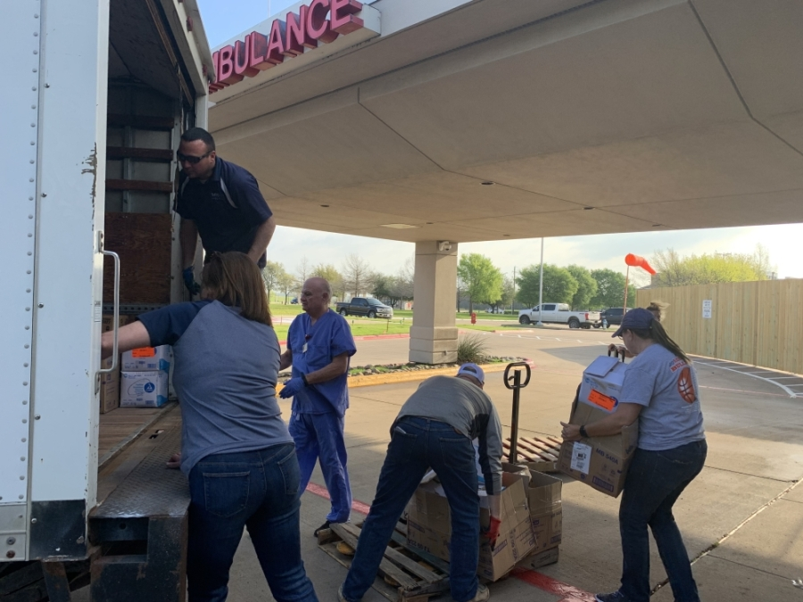 This week, McKinney ISD district staff took protective supplies to three local hospitals in McKinney. (Courtesy McKinney ISD)