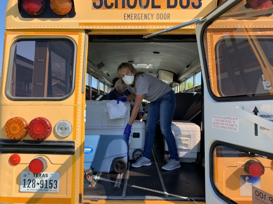 The Grapevine-Colleyville ISD Health Department has been busy assisting the district with health initiatives, such as delivering meals. (Courtesy Amy Taldo)