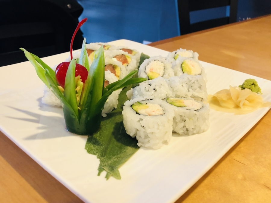 Popular dishes at Sushi Nomi include the California ($6) and Philadelphia ($6) rolls. (Photos by Ian Pribanic/Community Impact Newspaper)