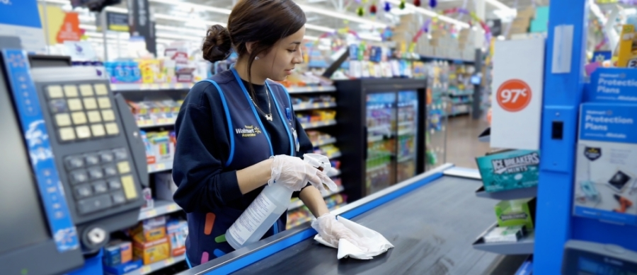 Walmart's Frisco locations are currently closing at 8:30 p.m. daily to allow overnight cleanings. (Courtesy Walmart)