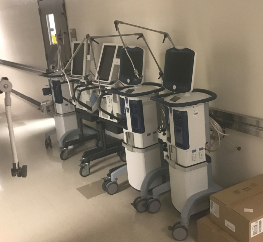 Alvin Community College has contributed 13 ventilators to hospitals treating COVID-19 patients in the area. (Courtesy Alvin Community College)