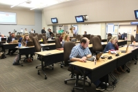 Teams work at the Williamson County emergency services facility during the coronavirus pandemic. (Courtesy Williamson County)