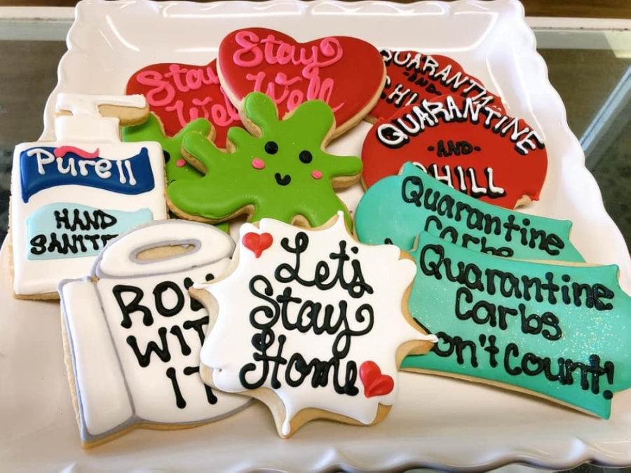 Some local bakeries are offering sweet treats for pickup as well as decorate-your-own cookie kits. (Courtesy Suzybeez Bakery)