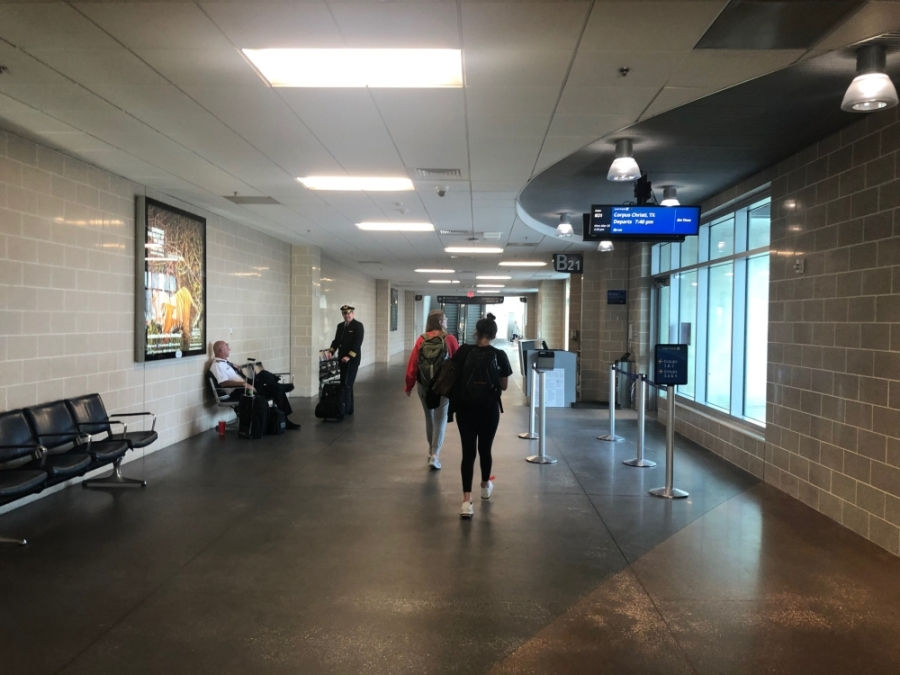 Houston Airport System officials expect March passenger data to be significantly lower than in other months. Foot traffic at IAH was light March 24. (Emily Heineman/Community Impact Newspaper)