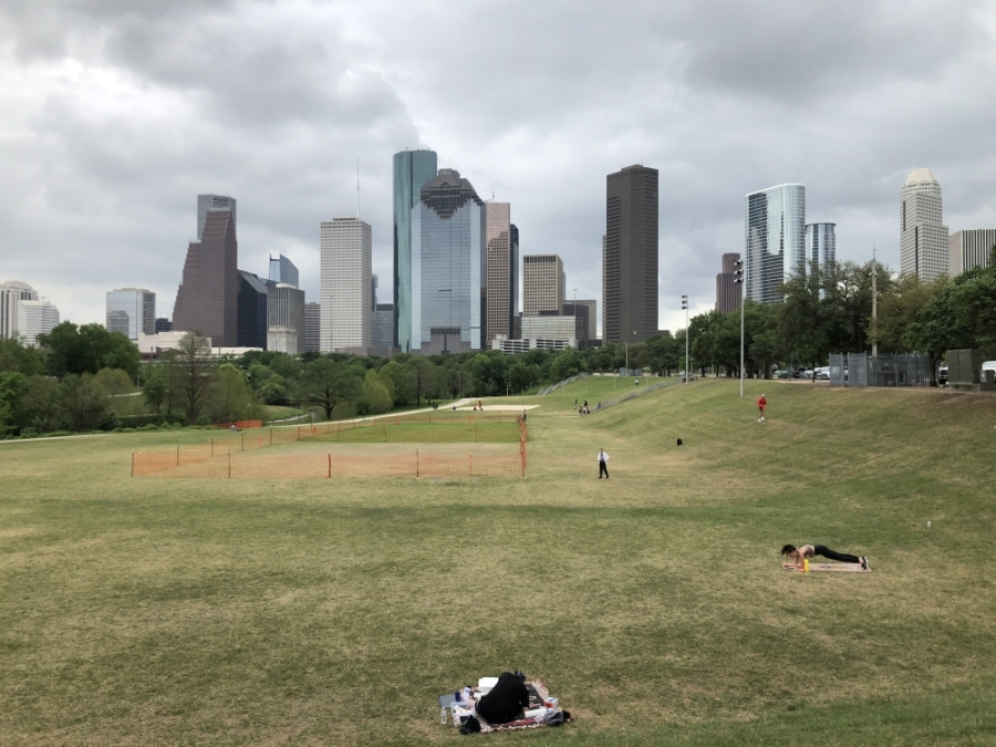 As of April 3, most Houston-area parks remain open with social distancing rules in effect. (Marie Leonard/Community Impact Newspaper)