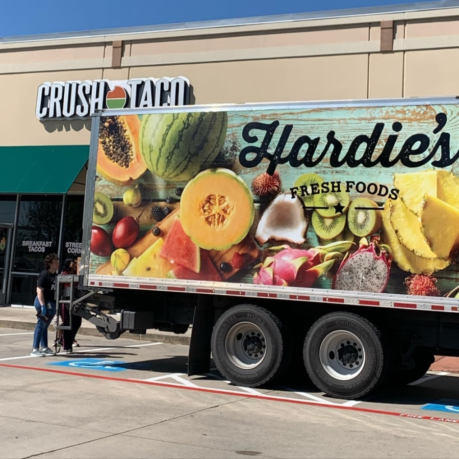 Crush Taco will partner with Hardie's Fresh Foods on April 4 to offer boxes filled with hard-to-find produce and foods, such as tomatoes, onions, garlic, lettuce mixes, eggs and chicken. (Courtesy Crush Taco)
