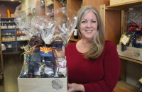 Denise McCreery is the owner of d'Vine Gourmet in Chandler. (Alexa D'Angelo/Community Impact Newspaper)