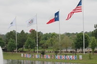 "The Montgomery County Veterans Memorial put up signs saying ""Hope is not cancelled,"" according to Montgomery County Judge Mark Keough. (Andy Li/Community Impact Newspaper)"