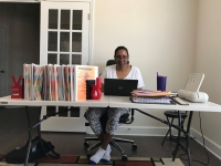 A Fulton County Schools teacher works from home while schools are closed due to the ongoing COVID-19 pandemic. (Courtesy Fulton County Schools)