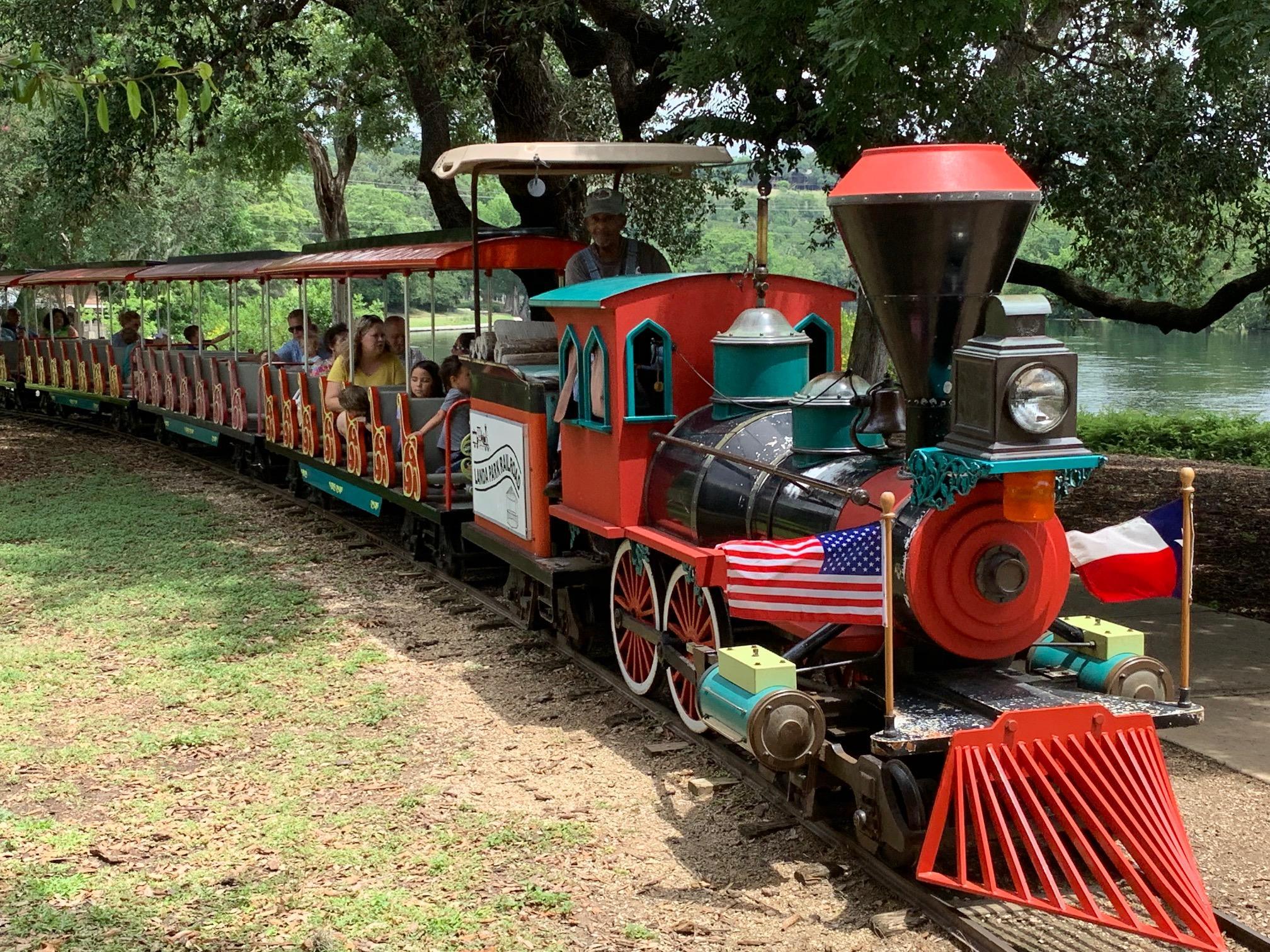 The train through Landa Park is popular with children.